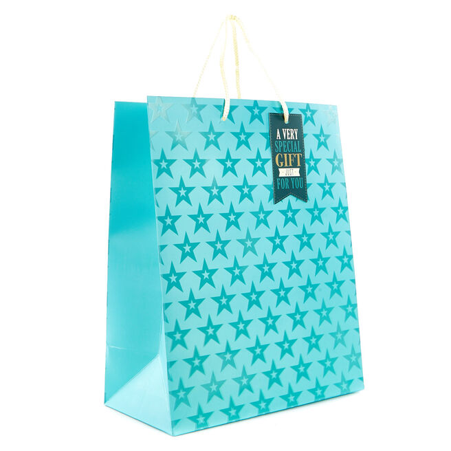 Medium Blue Starry Gift Bag - A Special Gift Just For You