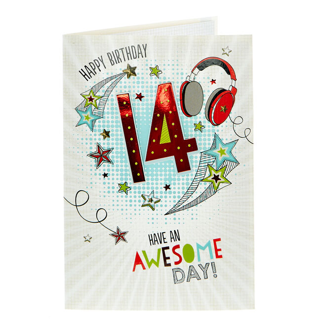 14th Birthday Card - Have An Awesome Day
