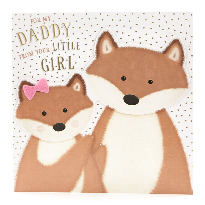 VIP Collection Birthday Card - Daddy From Daughter Foxes