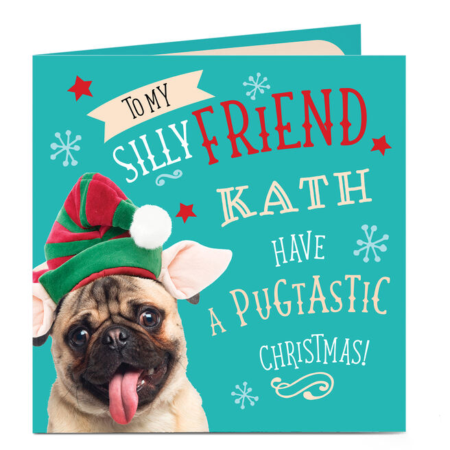 Personalised Christmas Card - To My Silly Friend