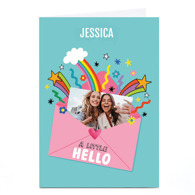 Personalised Cheerful Photo Card - Hello Envelope