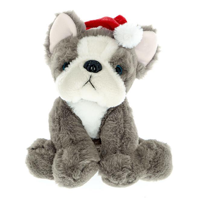 Christmas Frenchie Soft Toy