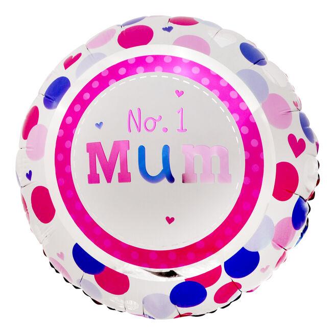 No. 1 Mum 18-Inch Foil Helium Balloon