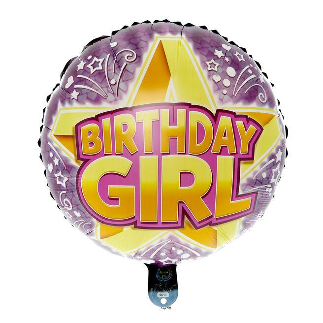 Birthday Girl Light-Up LED 22-Inch Foil Helium Balloon