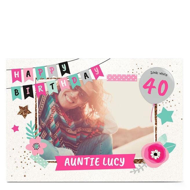 Photo Birthday Card - Happy Birthday Banner