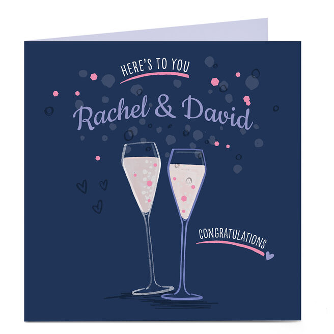 Personalised Congratulations Card - Couple Here's To You