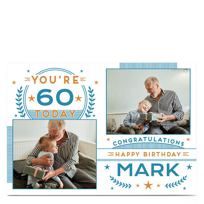 Photo 60th Birthday Card - Congratulations