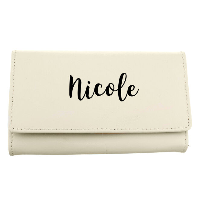 Personalised Cream & Black Purse