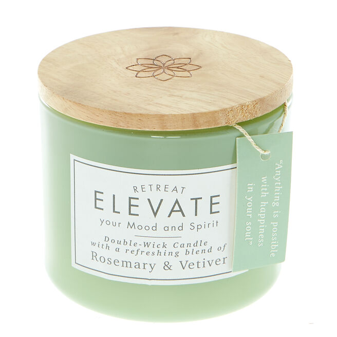 Rosemary & Vetiver Double-Wick Scented Candle