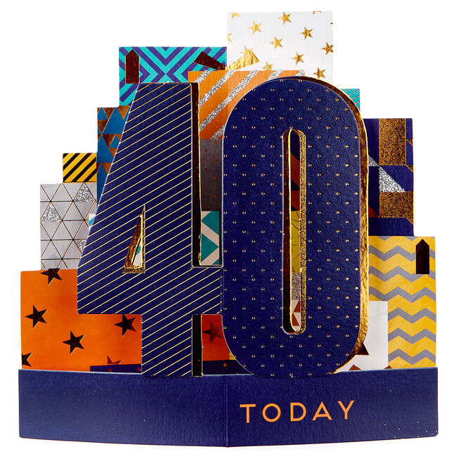 Exquisite Collection 3D 40th Birthday Card