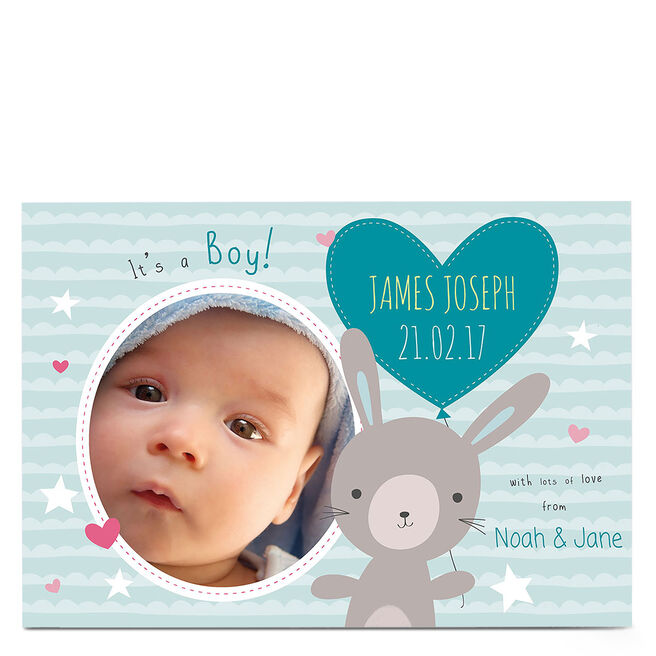 Photo New Baby Card - It's A Boy!