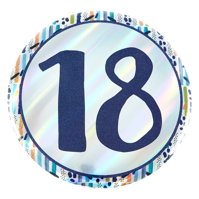 Giant 18th Birthday Badge - Blue