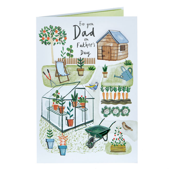 Father's Day Card - For You Dad, Garden