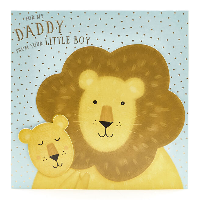 VIP Collection Birthday Card - Daddy From Son Lions