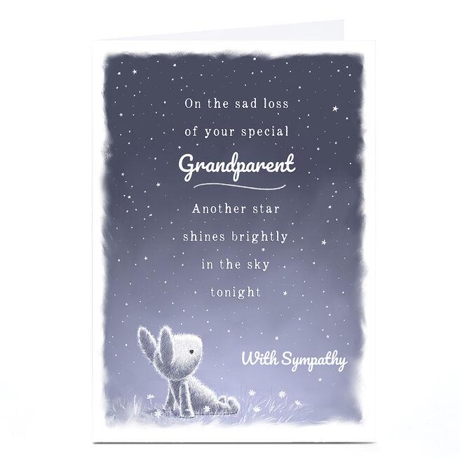 Personalised Sympathy Card - With Sympathy