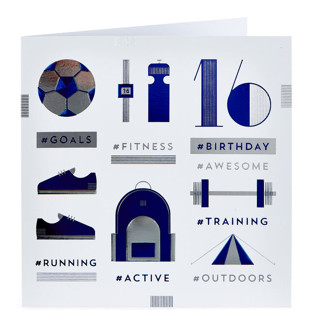 Platinum Collection 16th Birthday Card - Fitness