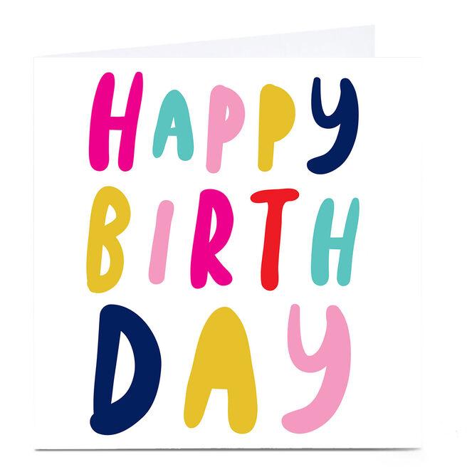 Personalised Hello Munki Card - Happy Birthday