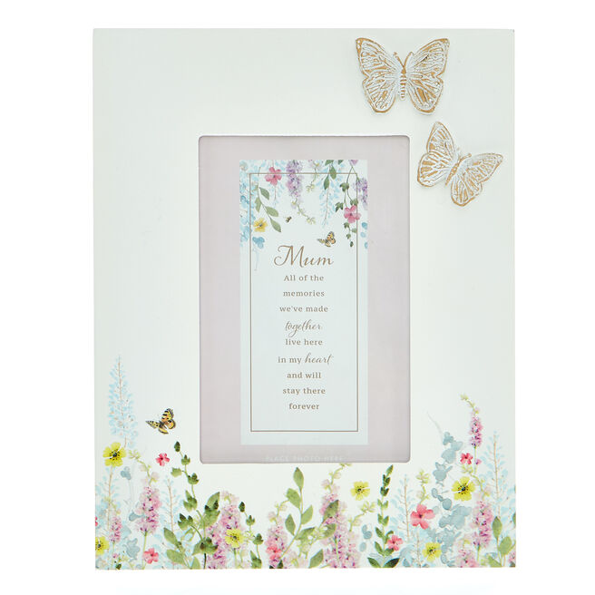 Mum Wildflowers & Butterfly Photo Frame
