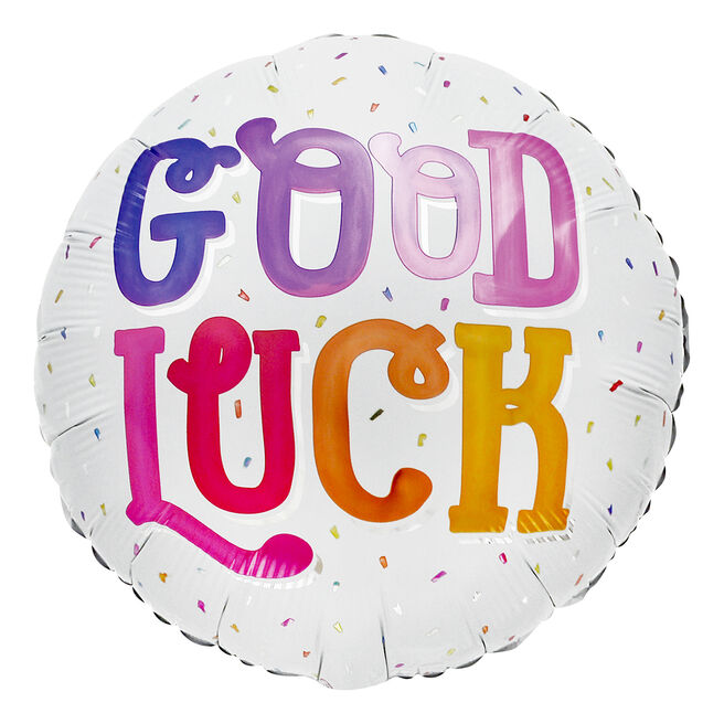 Colourful Good Luck 18-Inch Foil Helium Balloon