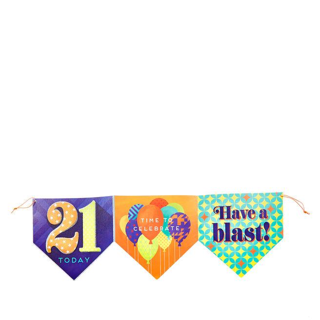 21st Birthday Bunting Card