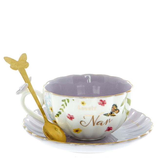 Lovely Nan Teacup, Saucer & Spoon Set