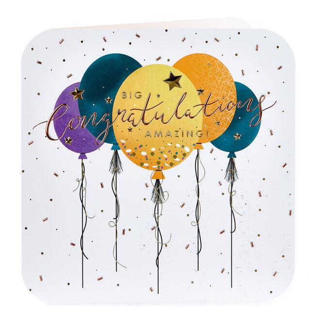 Platinum Collection Congratulations Card - Balloons