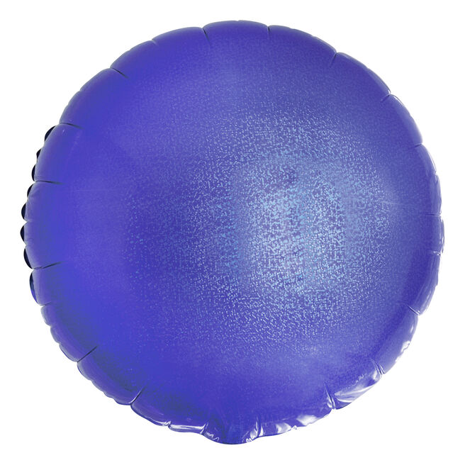 Blue Round Foil Helium Balloon