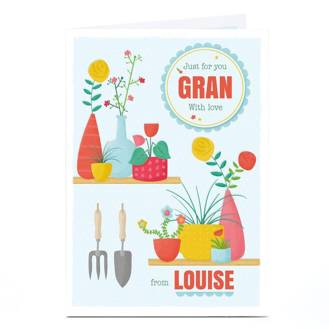 Personalised Card - Gardening Just For You