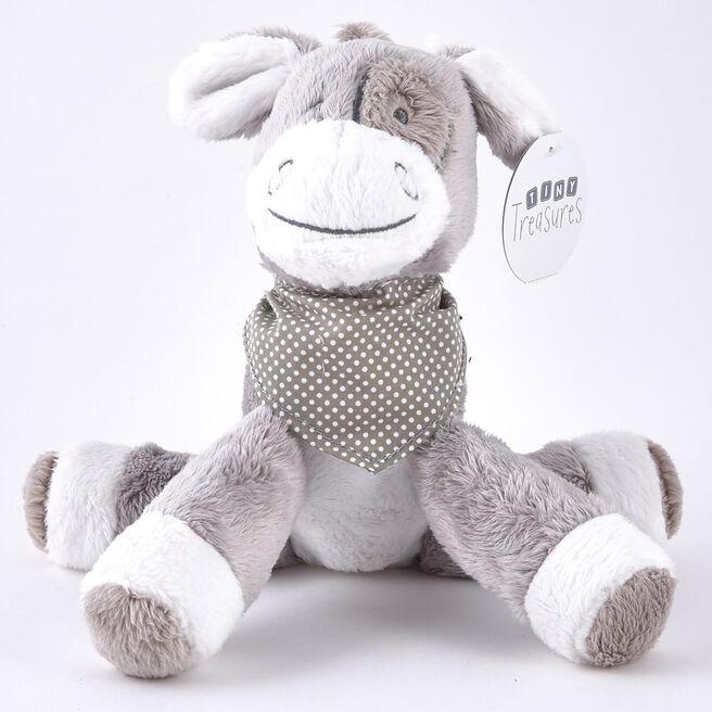 Tiny Treasures - Grey & White Donkey With Neckerchief