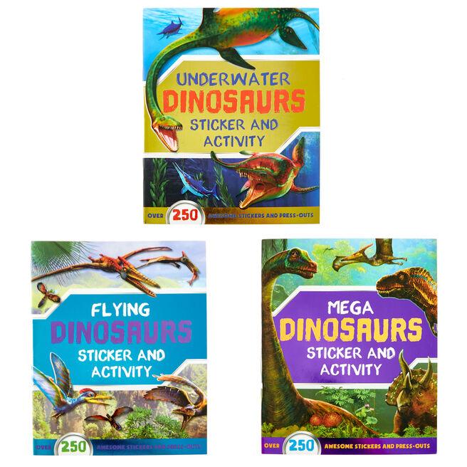 Dinosaurs Sticker & Activity Books - Set Of 3
