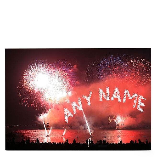 Personalised Card - Fireworks