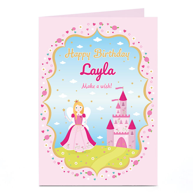 Personalised Birthday Card - Fairy Princess