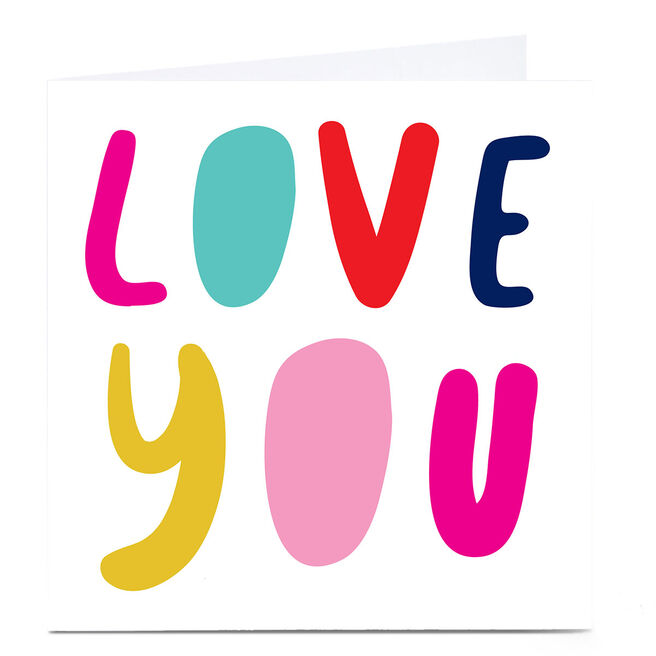 Personalised Hello Munki Card - Love You