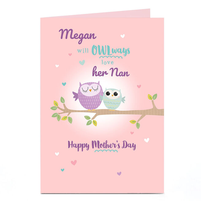 Personalised Mother's Day Card - OWLways