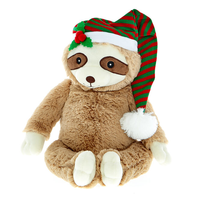 Christmas Sloth Soft Toy
