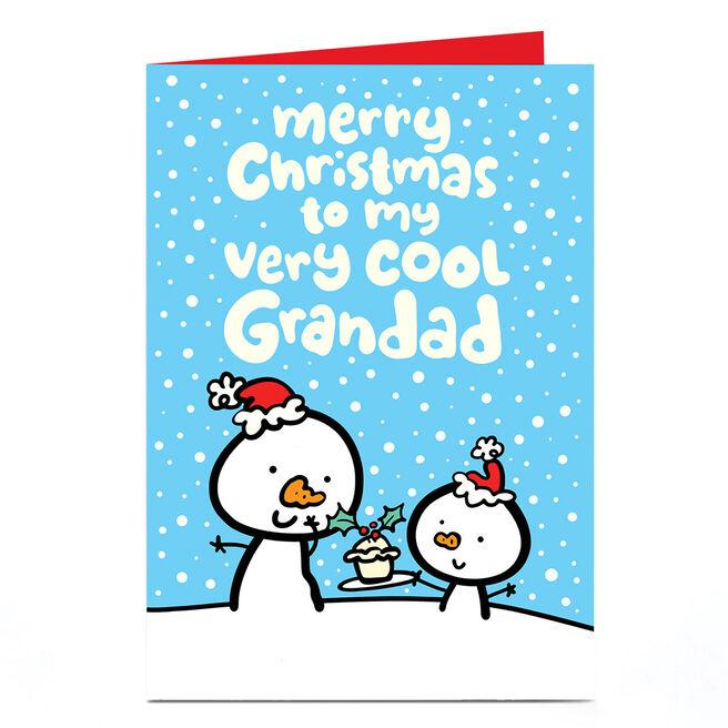 Personalised Fruitloops Christmas Card - Very Cool Grandad