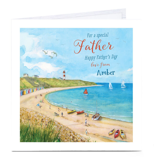 Personalised Father's Day Card - Coastal Father