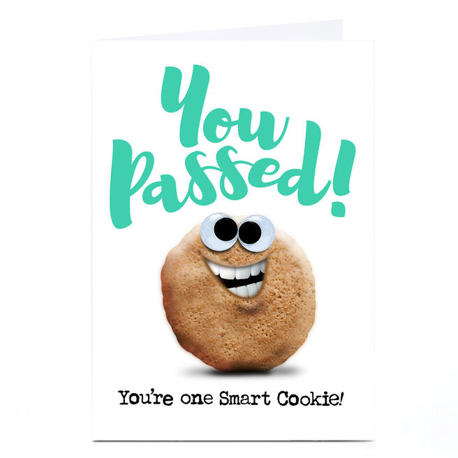 Personalised PG Quips Well Done Card - One Smart Cookie!