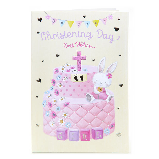 Christening Card - Best Wishes, Girl