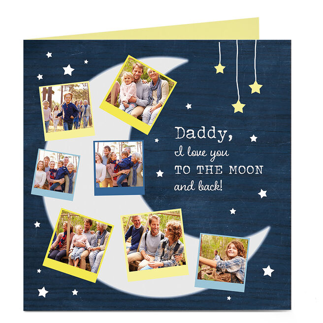 Photo Card - To The Moon And Back, Daddy
