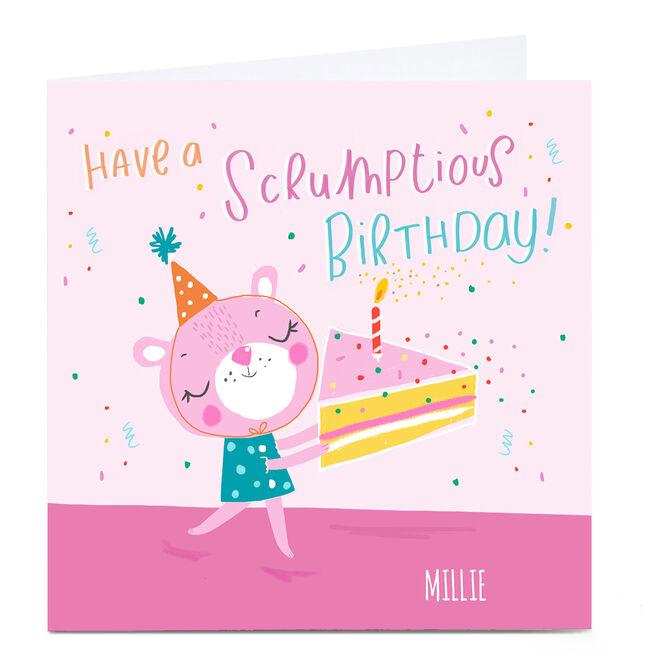 Personalied Carol Richardson Birthday Card - Scrumptious