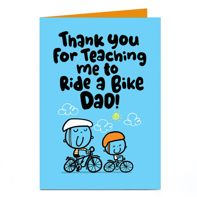 Personalised Fruitloops Father's Day Card - Dad, Ride A Bike