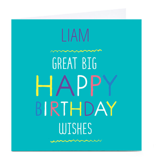 Personalised Hello! Card - Happy Birthday wishes