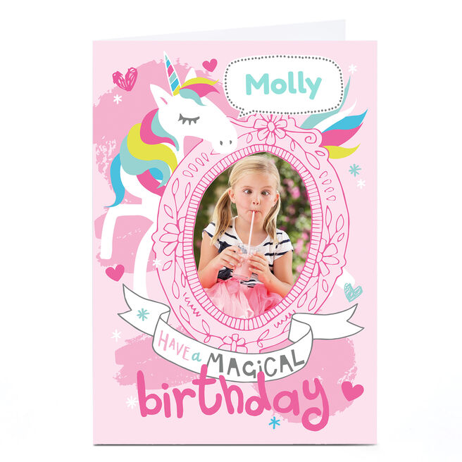 Personalised Bev Hopwood Birthday Card - Unicorn