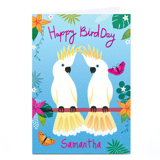 Personalised Hannah Steele Birthday Card - Happy BirdDay