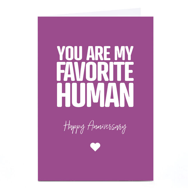 Personalised Punk Cards Anniversary Card - Favorite Human