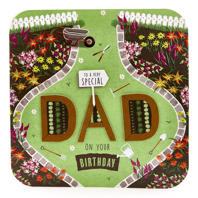 Exquisite Collection Birthday Card - Dad, Gardening