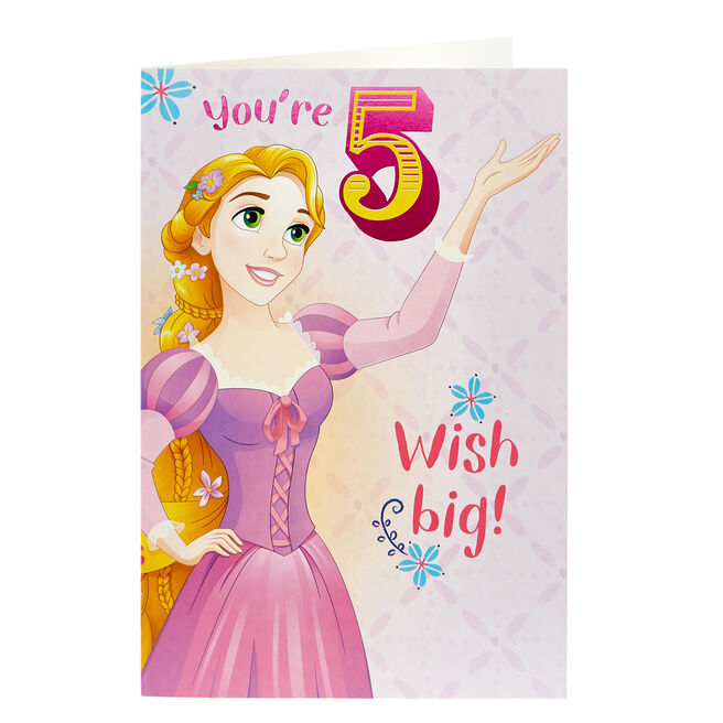 Disney Princess 5th Birthday Card - Colouring Fun