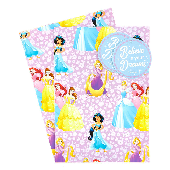 Disney Princess Wrapping Paper & Gift Tags - Pack Of 2