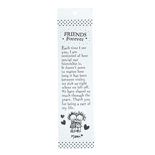Blue Mountain Arts Bookmark - Friends Forever